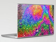 Oily rainbow Laptop & iPad Skin by Efua Boakye - $30.00