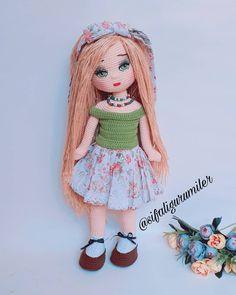 Crochet Birds, Crochet Toys, Knit Crochet, Crochet Dolls Free Patterns, Crochet Doll Pattern, Barbie, New Dolls, Knitted Dolls, Amigurumi Doll