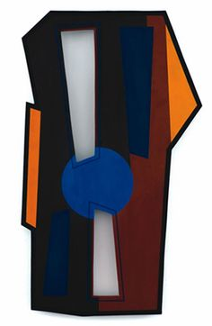 Gyula Kosice, Dos espacios (Pintura Madí, 1949) esmalte sobre madera.