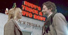 """Jennifer Lawrence and Bradley Cooper """"electrify"""" on screen together in Joy, raves Us Weekly's film critic Mara Reinstein - read the review!"""
