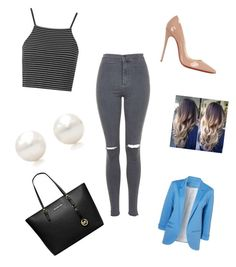 """""""Untitled #9"""" by bigkoolkid on Polyvore featuring Topshop, Michael Kors, Christian Louboutin and Tiffany & Co."""