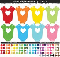 Rainbow Heart, Elements Of Art, Baby Shower Printables, Rainbow Colors, Cake Toppers, Onesies, Packing, How To Apply, Clip Art