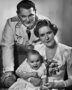 Role model: Hitler's depute Hermann Hitler's depute Hermann Goering, with his wife Emmy and child