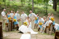 Turquoise and sunflowers wedding at The Barn at Twin Oaks Ranch, Dardanelle, Arkansas