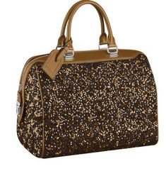 Louis Vuitton Glitter Top Handle Speedy Bag Lydia McLaughlins Brown Glitter Purse