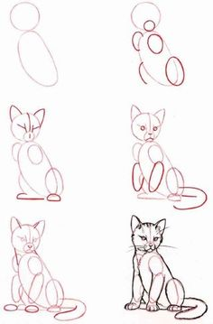 People Drawing Illustration Zeichentechniken How to Draw A Loch Ness Monster Cat Drawing Tutorial, Drawing Base, Painting & Drawing, Drawing Ideas, Drawing Tips, Drawing Drawing, Learn Drawing, Drawing Hands, Cute Cat Drawing