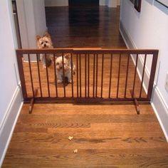 Step Over Walnut Dog Gate
