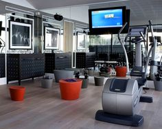 Contemporary home gym.