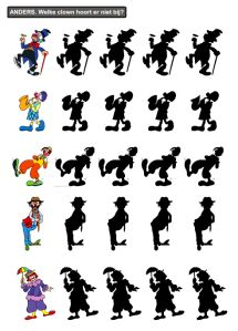 welke clown hoort er niet bij Preschool Printables, Preschool Math, Teaching Math, Kindergarten, Le Clown, Circus Clown, Circus Theme, Circus Activities, Activities For Kids