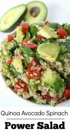Quinoa ensalada.