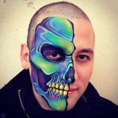 Blue Skull by ~RonnieMena on deviantART