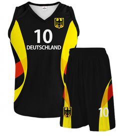 GERMANY 2014/15 Basketball Black Kit With Custom Name Number And Logo