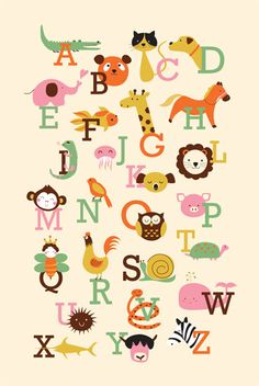 i've always wanted to draw animal abc. it's somewhat challenging, but i had a lot of fun making this art print. Zine, Alphabet Crafts, Animal Alphabet, Alphabet And Numbers, Alphabet Posters, Custom Art, Nursery Wall Art, Animal Drawings, Art Pictures