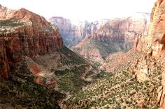 "View from ""Canyon Outlook"" trail at Zion National Park, Utah"