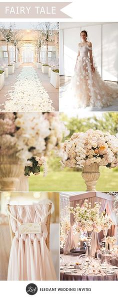 Prettiest Spring Ideas---mpressive and luxe fairytale princesss wedding ideas, floral wedding decorations, wedding ceremony aisle with blooms, wedding dresses