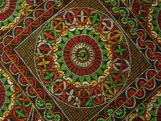 Indian Folk Art Handmade Needlepoint Cotton Quilt Nakshi Kantha