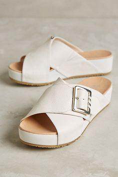 795e57b1f648 Dr Scholl s Flight Slides  anthropologie White Sandals