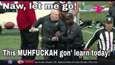 Dan Quinn after a no call, clear pass interference by Richard Sherman, that cost the falcons the game. Go Falcons! 2016