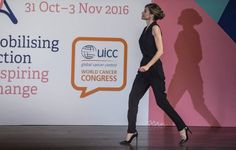 Queen Letizia and Princess Lalla Salma attended the World Cancer Congress in Paris Oct. 31, 2016