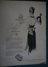 1945  Whiting & Davis Mesh Handbag Purse Back in Civvies Fashion Original Ad