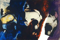 rockingham gallery - john piper - original lithograph - signed and numbered in pencil -  eye & camera - red, blue, yellow -1971