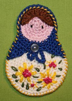 Matrioshka Crochet Pattern Applique by CAROcreated on Etsy
