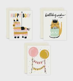 Happy Birthday set of cards by Idlewild Co.
