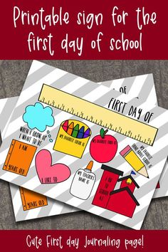 Fun hand drawn printable for your first day of school sign! Use for 2020-2021 as you children finally head back to school! Fill in your child's favorites with this DIY printable back to school sign! Is easily customizable and can be used for Preschool through high school. Great first day of school ideas for boys and girls to write their favorites! Use this simple homemade printable to remember your child's first day! #firstdayofschoolsign #DIYfirstdayofschool #firstdayofschoolideas