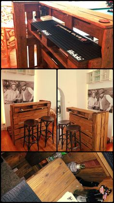 Upcycled Pallet Bar Table | Pallet Furniture - DIY Home Decor Ideas from old Pallets