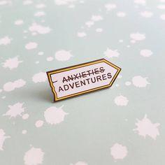 Enamel pin, Mental health pin, anxiety enamel pin badge, mental health awareness, psychology pin, gift for friend, UK shop