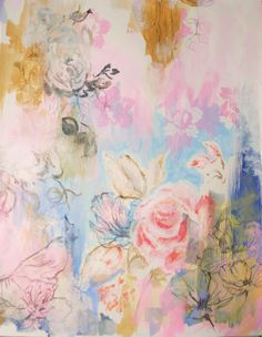 Large Figurative Acrylic Painting Title: The Pink Rose Medium: Acrylic and graphite Support: Bristol Paper 100 lb g) Size : cm x 61 cm ) Painting is signed and dated by the artist as well as accompanied by a Certificate of Authenticity. Acrylic Painting On Paper, Watercolor Paintings, Floral Paintings, Paintings I Love, Original Paintings, Modern Paintings, Original Artwork, Plant Painting, Painting Flowers