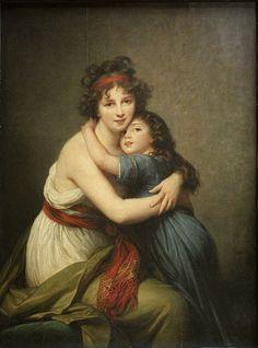 Élisabeth Louise Vigée Le Brun, Self-Portrait with her Daughter, Julie, 1789, oil on canvas