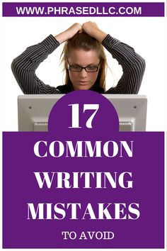 Common writing mistakes to avoid on websites, social media and in business writing. Tips, ideas and examples on the common mistakes to avoid and short videos and examples of how to fix them. #commonwritingmistakes #writingmistakes #websitewritingmistakes Professional Writing, Business Writing, Content Marketing Strategy, Creating A Blog, Copywriting, Blogging For Beginners, Writing Tips, Mistakes, How To Start A Blog