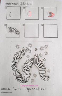 Stikz zentangle pattern Stikz zentangle pattern The post Stikz zentangle pattern appeared first on Lynne Seawell& World. Doodles Zentangles, Tangle Doodle, Zentangle Drawings, Zen Doodle, Doodle Drawings, Doodle Art Designs, Doodle Patterns, Zentangle Patterns, Pattern Drawing