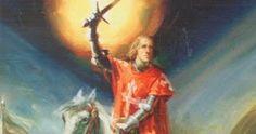 D. Nuno Alvares Pereira on horse before the Battle of Aljubarrota 1385