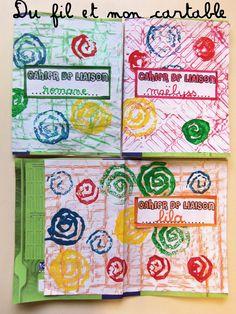 Petite activité autour de la pochette d'un cahier sur un format A4   Empreinte au pastel   +   Empreinte spirale carton              R... Art For Kids, Crafts For Kids, Arts And Crafts, Petite Section, Art Plastique, Projects To Try, Notebook, Pastel, Art For Toddlers