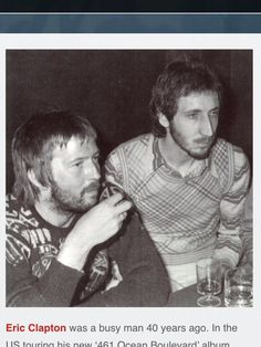 Eric Clapton and Pete Townsend 1974