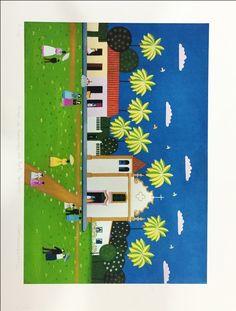 Galeria Arte Quadros \ Gravura \ CARMEN GARREZ - MISSA EM PORTO SEGURO