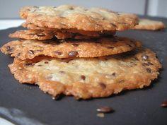 Crackers au fromage, extra fins et croquants  :  Avoine lin sésame