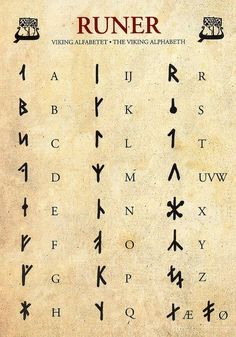 Runes – Viking Alphabet by yvonne – Norse Mythology-Vikings-TattooYou can find Norse mythology and more on our website.Runes – Viking Alphabet by yvonne – Norse Myt. Alphabet Code, Alphabet Symbols, Viking Runes Alphabet, Norse Runes, Sign Language Alphabet, Nordic Alphabet, Odin Norse Mythology, Witches Alphabet, Book Of Shadows