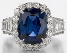 Christopher Designs Sapphire and Diamond Ring