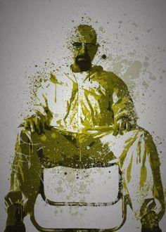 """""""Heisenberg""""  Splatter effect artwork inspired by Walter White from Breaking Bad"""