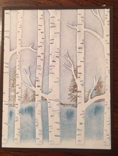This is the last of the cards from the Woodland Embossing Folder class. I saw a version of this on Pinterest by Create with Dee. Thi...