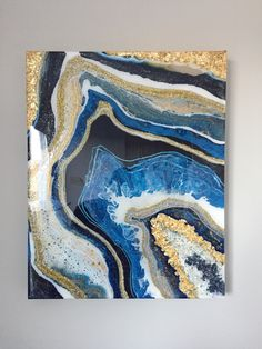A personal favorite from my Etsy shop https://www.etsy.com/ca/listing/616215449/geode-painting-made-to-order-acrylic