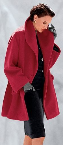 European Coat in Red. Great work attire for those important business meetings