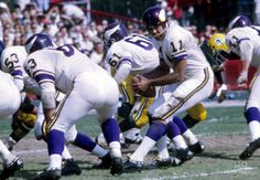 Minnesota Vikings quarterback Joe Kapp (11) in action against the Green Bay Packers at County Stadium.
