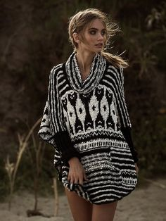 Free People Rosie Lee Poncho at Free People Clothing Boutique