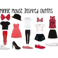 """minnie mouse inspired outfits"" Totally wearing this to Disneyland Disney Mode, Disney Day, Cute Disney, Disney Style, Disney Themed Outfits, Disney Bound Outfits Casual, Disney Princess Outfits, Disneybound Outfits, Mode Geek"