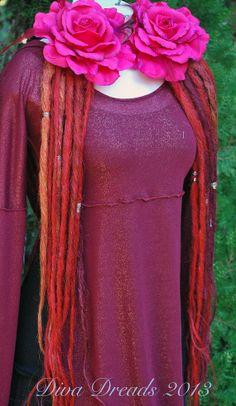 Bright Crimson Dread Lock Falls by DivaDreads on Etsy, $85.00
