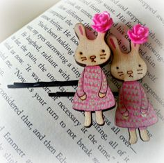 Sweet Spring Bunny Bobby Pins: Bacon Time with The Hungry Hypo
